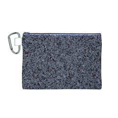 GRANITE BLUE-BLACK 3 Canvas Cosmetic Bag (M)