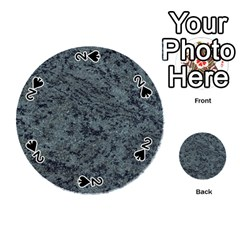 Granite Blue Black 2 Playing Cards 54 (round)