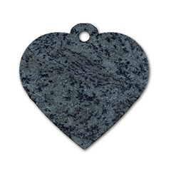 GRANITE BLUE-BLACK 2 Dog Tag Heart (One Side)