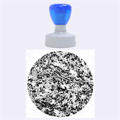 GRANITE BLUE-BLACK 2 Rubber Round Stamps (Large)
