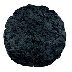 GRANITE BLUE-BLACK 2 Large 18  Premium Round Cushions