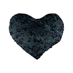 GRANITE BLUE-BLACK 2 Standard 16  Premium Heart Shape Cushions