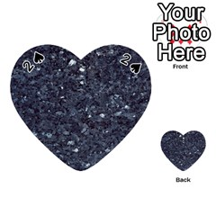 Granite Blue Black 1 Playing Cards 54 (heart)