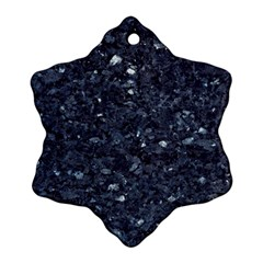 Granite Blue Black 1 Snowflake Ornament (2 Side)