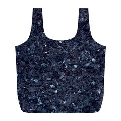 GRANITE BLUE-BLACK 1 Full Print Recycle Bags (L)