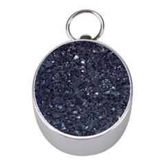 GRANITE BLUE-BLACK 1 Mini Silver Compasses