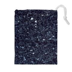 Granite Blue Black 1 Drawstring Pouches (extra Large)