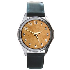 FAUX STONE Round Metal Watches