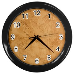 FAUX STONE Wall Clocks (Black)
