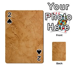 Faux Stone Playing Cards 54 Designs