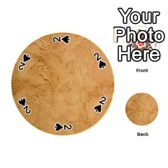 Faux Stone Playing Cards 54 (round)