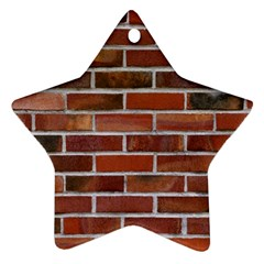 COLORFUL BRICK WALL Ornament (Star)