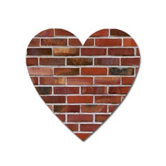 COLORFUL BRICK WALL Heart Magnet