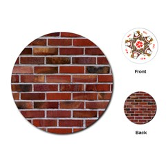 COLORFUL BRICK WALL Playing Cards (Round)