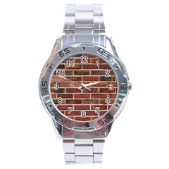 COLORFUL BRICK WALL Stainless Steel Men s Watch