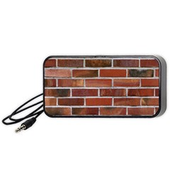 COLORFUL BRICK WALL Portable Speaker (Black)