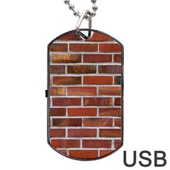COLORFUL BRICK WALL Dog Tag USB Flash (One Side)