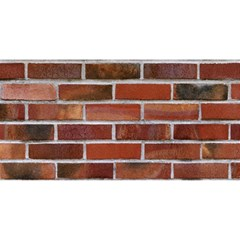 COLORFUL BRICK WALL YOU ARE INVITED 3D Greeting Card (8x4)