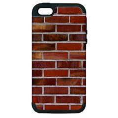 COLORFUL BRICK WALL Apple iPhone 5 Hardshell Case (PC+Silicone)
