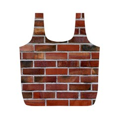 COLORFUL BRICK WALL Full Print Recycle Bags (M)