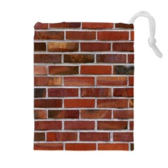 COLORFUL BRICK WALL Drawstring Pouches (Extra Large)