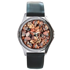 COLORED ROCKS Round Metal Watches