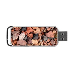 Colored Rocks Portable Usb Flash (one Side)
