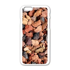 COLORED ROCKS Apple iPhone 6/6S White Enamel Case