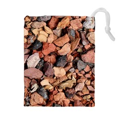 COLORED ROCKS Drawstring Pouches (Extra Large)