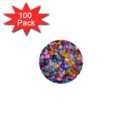 COLORED PEBBLES 1  Mini Buttons (100 pack)