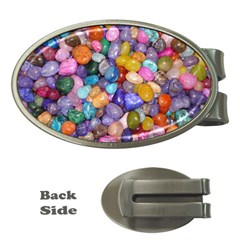 COLORED PEBBLES Money Clips (Oval)