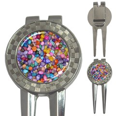 COLORED PEBBLES 3-in-1 Golf Divots