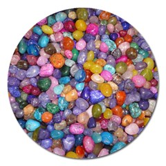 COLORED PEBBLES Magnet 5  (Round)