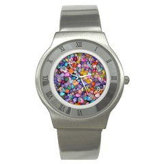 Colored Pebbles Stainless Steel Watches