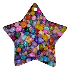 COLORED PEBBLES Star Ornament (Two Sides)