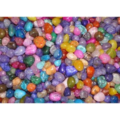 Colored Pebbles Birthday Cake 3d Greeting Card (7x5)