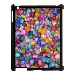 COLORED PEBBLES Apple iPad 3/4 Case (Black)