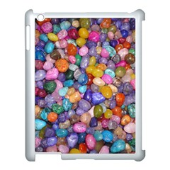 COLORED PEBBLES Apple iPad 3/4 Case (White)