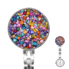 COLORED PEBBLES Stainless Steel Nurses Watches