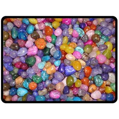 COLORED PEBBLES Double Sided Fleece Blanket (Large)