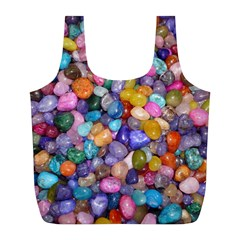 COLORED PEBBLES Full Print Recycle Bags (L)