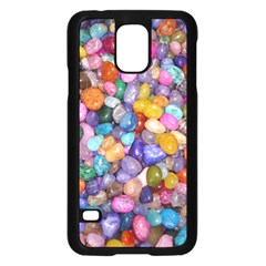 COLORED PEBBLES Samsung Galaxy S5 Case (Black)