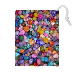 COLORED PEBBLES Drawstring Pouches (Extra Large)