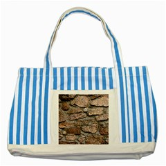 Cemented Rocks Striped Blue Tote Bag