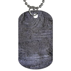 BLUE STUCCO TEXTURE Dog Tag (Two Sides)