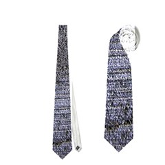 Blue Stucco Texture Neckties (one Side)