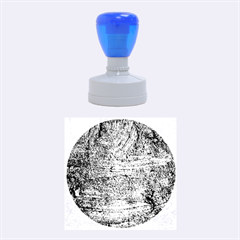 Blue Stucco Texture Rubber Round Stamps (medium)