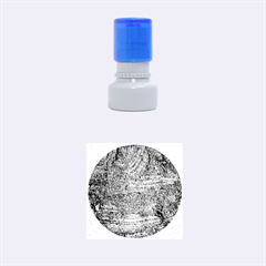 Blue Stucco Texture Rubber Round Stamps (small)