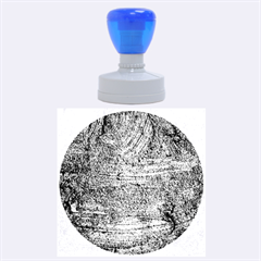 BLUE STUCCO TEXTURE Rubber Round Stamps (Large)