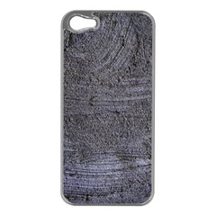 BLUE STUCCO TEXTURE Apple iPhone 5 Case (Silver)
